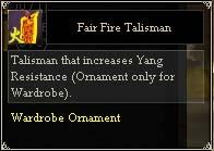 Fair Fire Talisman