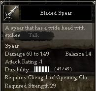 Bladed Spear