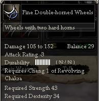 Fine Double-horned Wheels