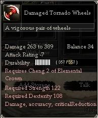 Damaged Tornado Wheels