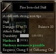 Fine Iron-clad Staff