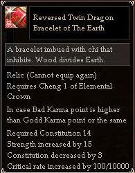 Reversed Twin Dragon Bracelet of The Earth