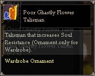 Poor Ghastly Flower Talisman