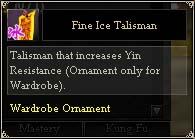 Fine Ice Talisman