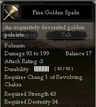 Fine Golden Spade