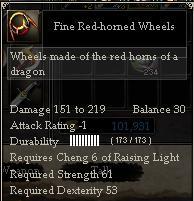 Fine Red-horned Wheels