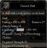 Clawed Staff