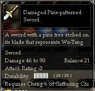 Damaged Pine-patterned Sword