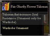 Fair Ghastly Flower Talisman