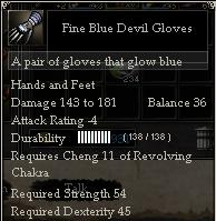 Fine Blue Devil Gloves