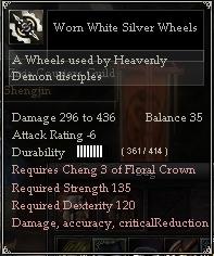 Worn White Silver Wheels