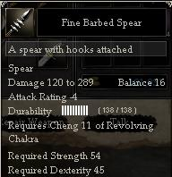 Fine Barbed Spear