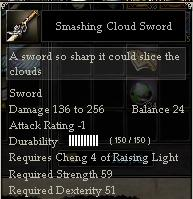 Smashing Cloud Sword
