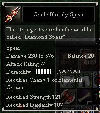 Crude Bloody Spear