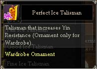 Perfect Ice Talisman