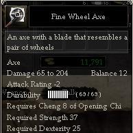 Fine Wheel Axe