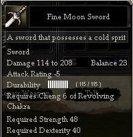 Fine Moon Sword