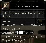 Fine Narrow Sword