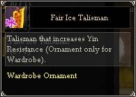 Fair Ice Talisman