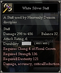 White Silver Staff