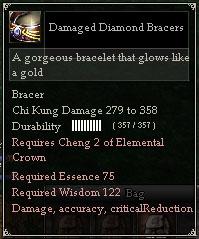 Damaged Diamond Bracers