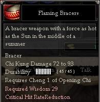 Flaming Bracers