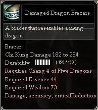 Damaged Dragon Bracers