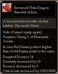 Reversed Twin Dragon Bracelet of Iron