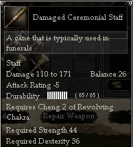 Damaged Ceremonial Staff