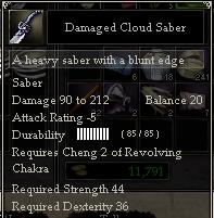 Damaged Cloud Saber
