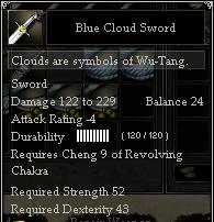 Blue Cloud Sword