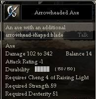 Arrowheaded Axe