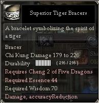 Superior Tiger Bracers