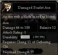 Damaged Scarlet Axe