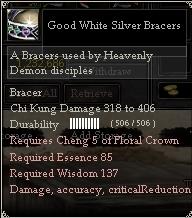 Good White Silver Bracers