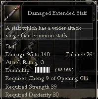 Damaged Extended Staff