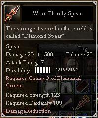 Worn Bloody Spear