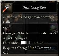 Fine Long Staff