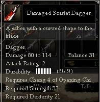 Damaged Scarlet Dagger