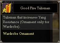 Good Fire Talisman