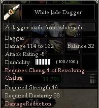 White Jade Dagger