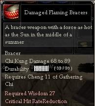 Damaged Flaming Bracers