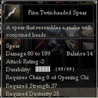 Fine Twin-headed Spear