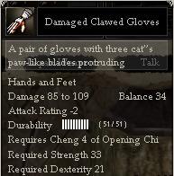 Damaged Clawed Gloves