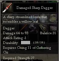 Damaged Sharp Dagger