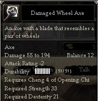 Damaged Wheel Axe