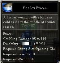 Fine Icy Bracers