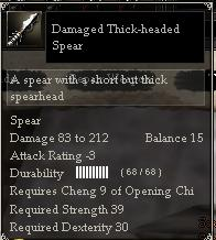 Damaged Thick-headed Spear