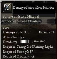 Damaged Arrowheaded Axe