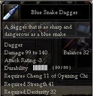 Blue Snake Dagger